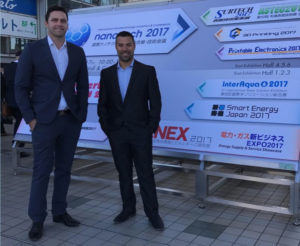 Brendan McPhee and Ramon Carrera at Nanotech 2017 In Japan
